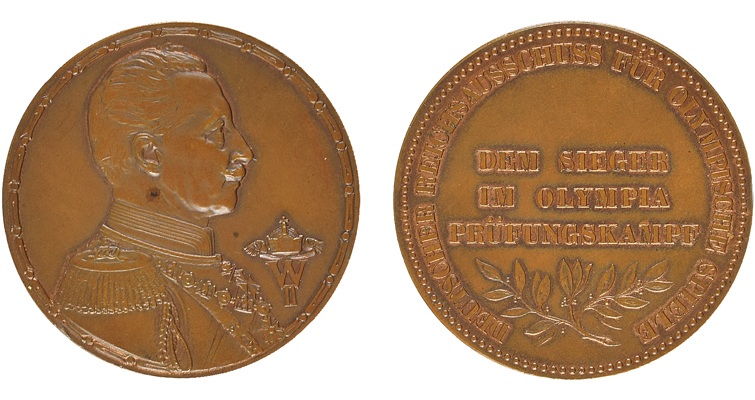 Olympic participation medals set for auction | Coin World