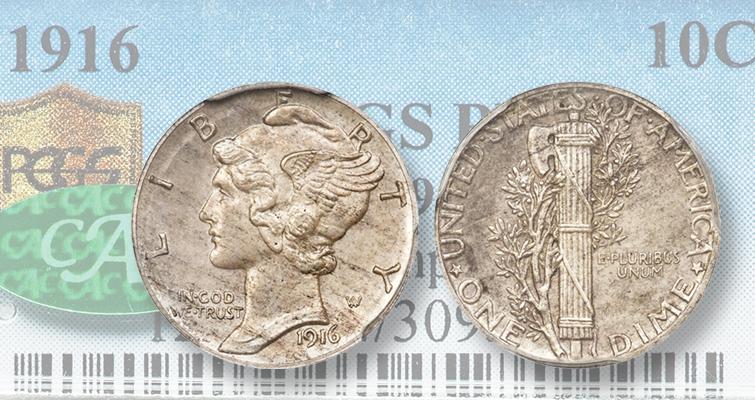 1916 pattern dime