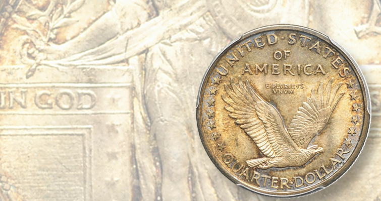 Full head 1916 Standing Liberty quarter, 'all-time classic,' draws handsome price