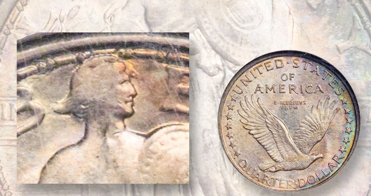 Jay Cline's Standing Liberty quarter dollars in January auction
