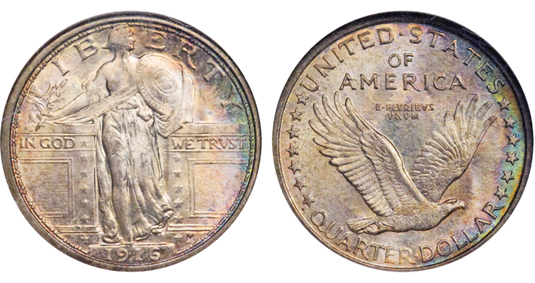 1916 Standing Liberty quarter dollar
