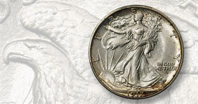 1917-S Walking Liberty half dollar