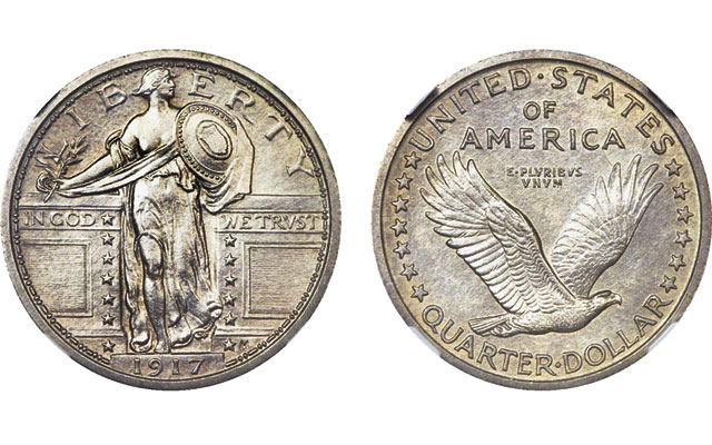 Gardner's Standing Liberties: 1917 example formerly thought to be a Proof brings 'impressive price'