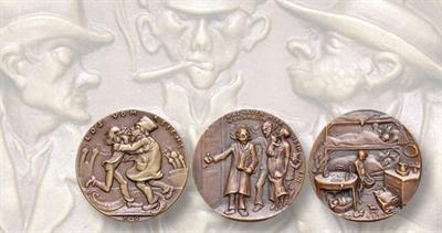 1919 and 1921 Karl Goetz medals