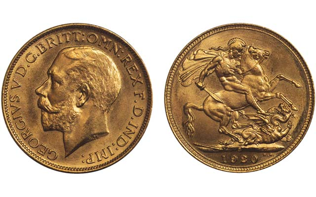 One of four known 1920-S gold sovereigns realizes $753,211 U.S. in London auction