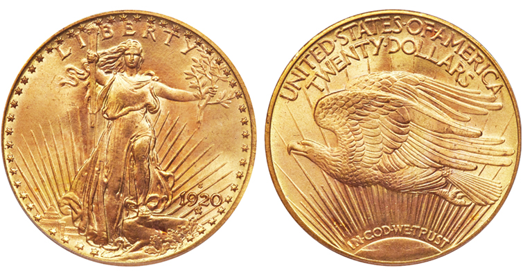 1920-S gold double eagle merged