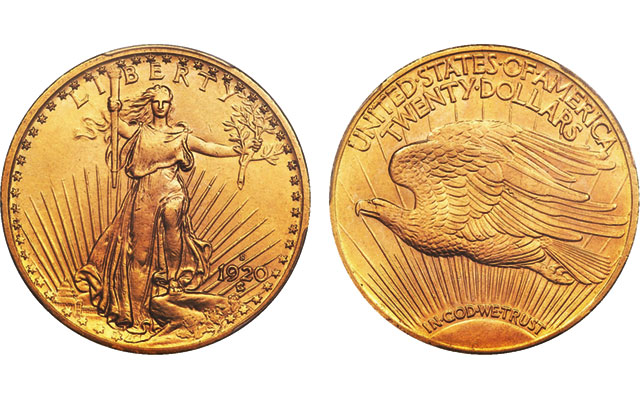 Rare double eagles top Long Beach: 1920-S Saint-Gaudens $20 coin brings $99,875