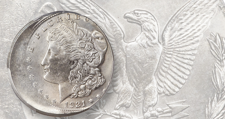 1921 Morgan dollar error coin'