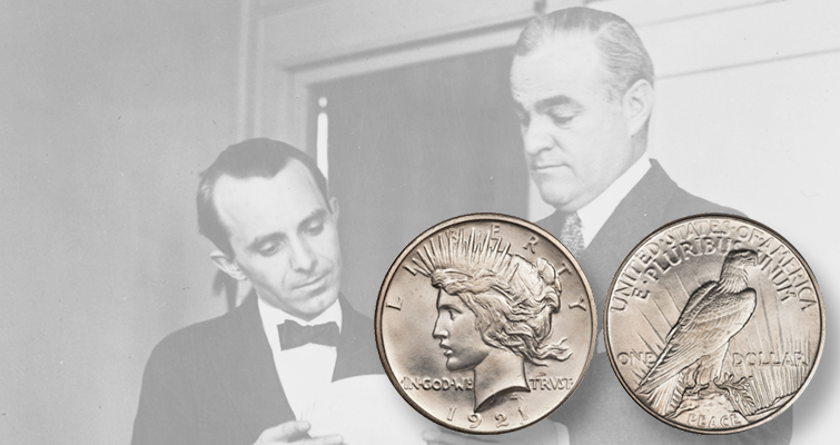 Over 1 million 1921 Peace dollars were produced during the holiday season