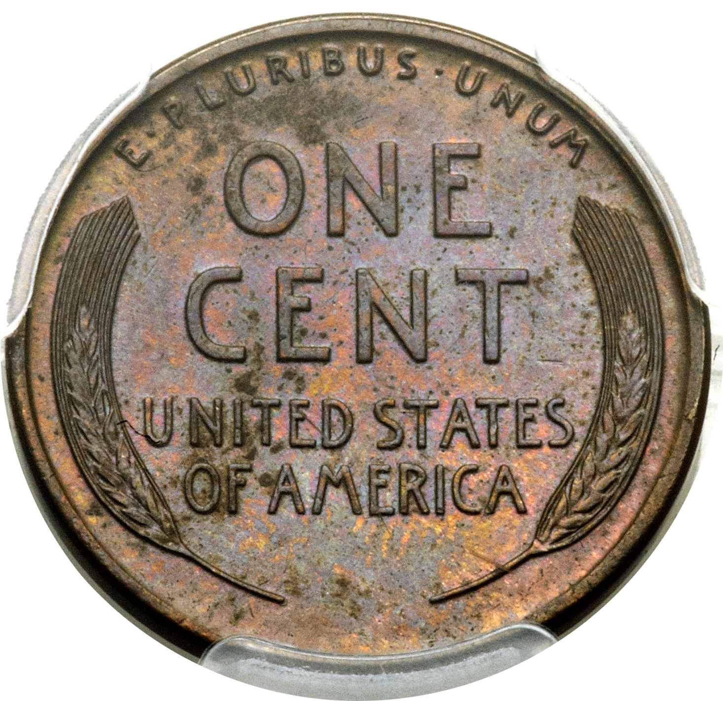 Note the strong reverse on this 1922-D Lincoln, Wheat Reverse, No D cent, graded Mint State 63 brown by the Professional Coin Grading Service, which sold for $15, 275 at auction in June 2015. Image courtesy of Heritage Auctions.