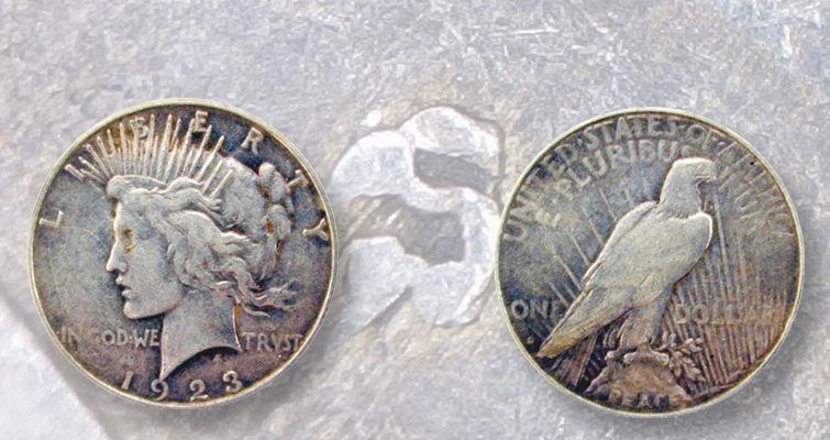 Bill O'Rourke 1923-S Peace dollar