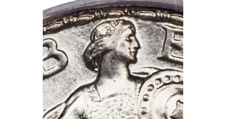 1926-D Standing Liberty quarter's full head