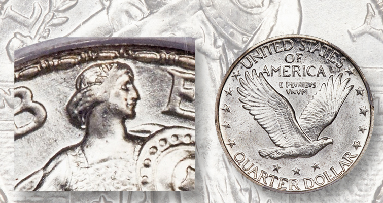 1926-D Standing Liberty Full Head quarter