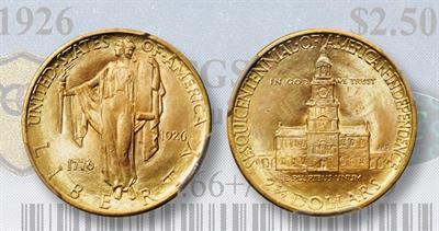 1926 sesquicentennial gold $2.50