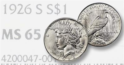 1926-S Prooflike Peace dollar