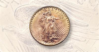 1927-D gold $20 double eagle