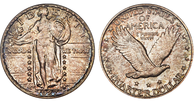 1927-S Standing Liberty quarter dollar