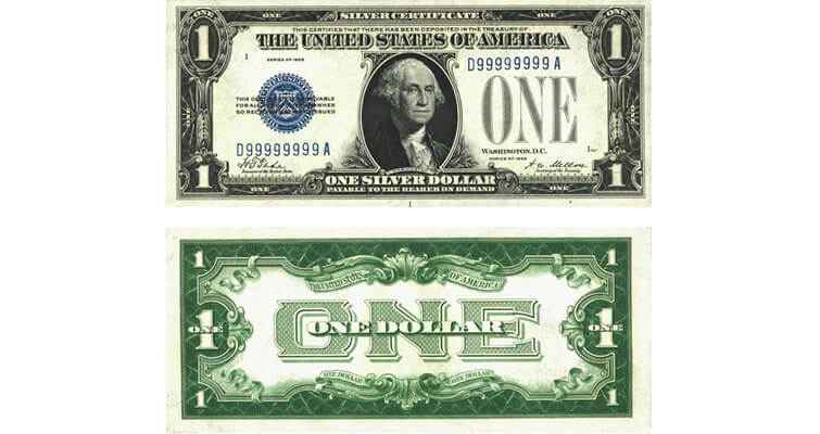 Small-size Series 1929 silver certificates