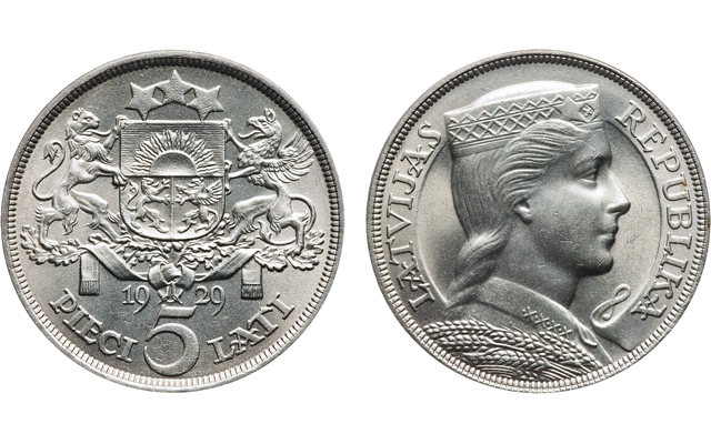 Latvia's Folk Maiden coin design represents freedom, possibly love