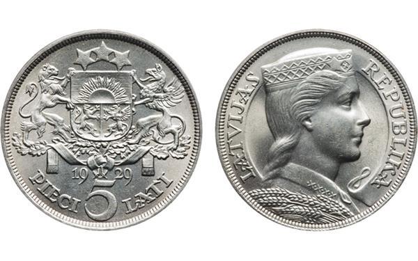 1929-latvia-5-lats