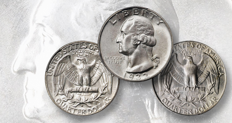 1932-D and 1932-S Washington quarters