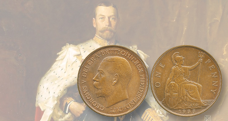British pattern penny from 1933 sets record