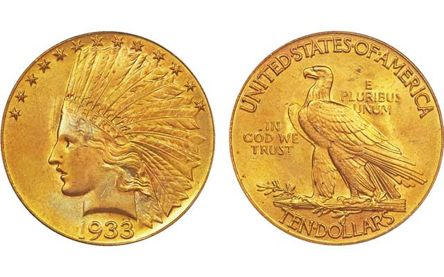 Heritage's Platinum Night: 1933 Indian Head gold eagle realizes $822,500