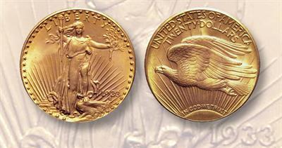 1933 Saint Gaudens $20 double eagle