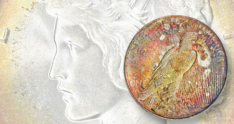 Sensationally toned 1934-D Peace dollar highlights the Larsen Collection