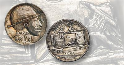 Two-sided hobo nickel from 1935