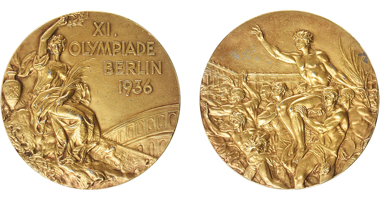 1936 Olympic gold medal merged