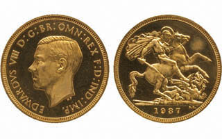 Rare 1937 Edward VIII sovereign sets record for British coin