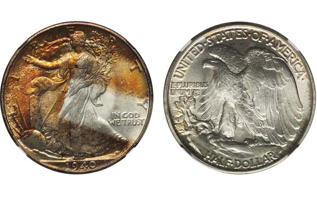 1940 Walking Liberty half dollar rounds out impressive group of toned collectibles