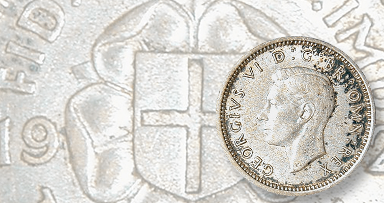 British threepences found with dimes in United States dime roll: Found in Rolls