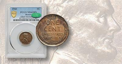 1943 cent graded MS-62