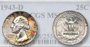 Error Sells 'Coveted' 1965 Washington quarter planchet error among