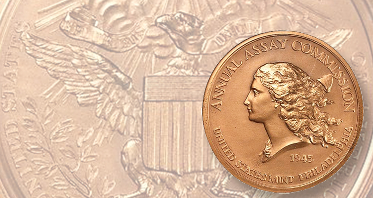 Assay Commission medal with Libertas Americana design series' most popular