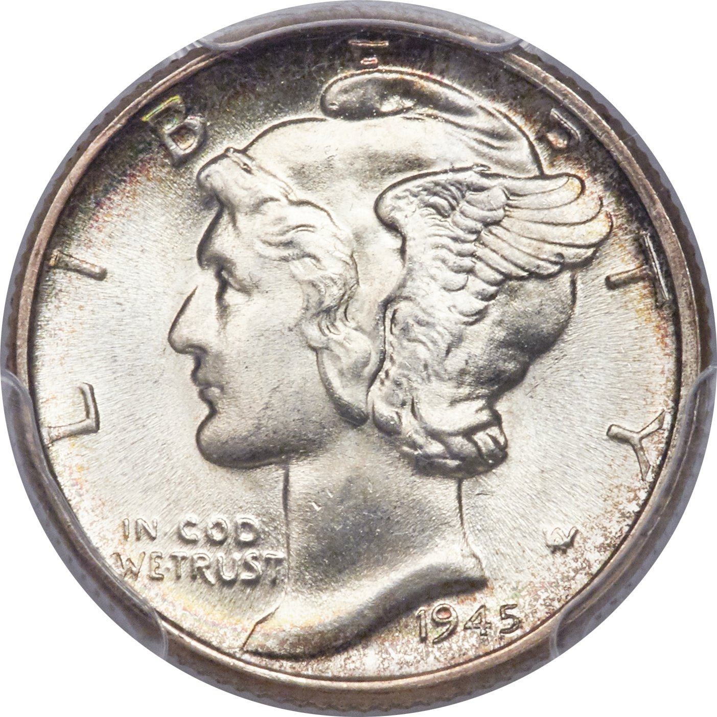 With a mintage of more than 159 million, the 1945 Philadelphia dime is the fifth most common Winged Liberty Head (Mercury) dime. But sharply struck it become a rarity — the