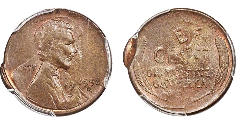 double-struck in collar 1952-D Lincoln cent