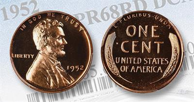 Proof 68 1952 Lincoln cent red