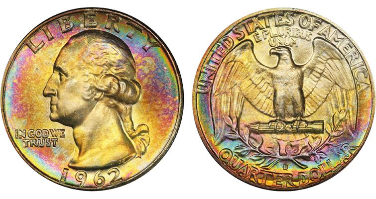 A 1962-D quarter dollar