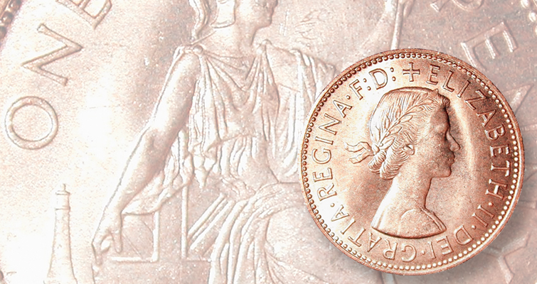 British penny substitutes as Kennedy half dollar: Found in Rolls