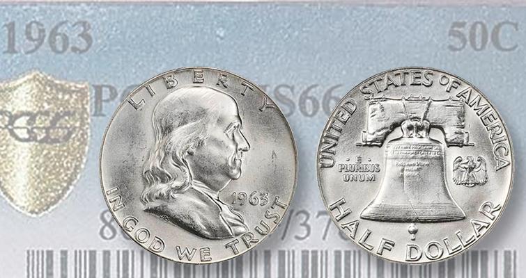 Giant 1963 Franklin Half Dollar