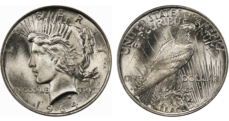 1964-D Peace dollar artists concept PCGS merged
