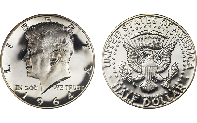 While production of Kennedy half dollars actually started quietly weeks before, first strike ceremonies were conducted simultaneously in Philadelphia and Denver on Feb. 11.