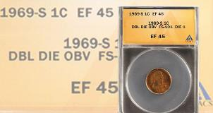 1969 P D S Lincoln Penny Copper Alloy Set Circulated.