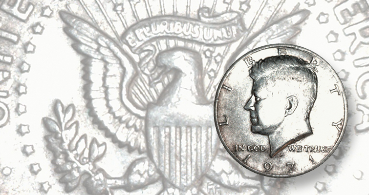 The discovery of a 1971-D Kennedy half dollar transitional error, struck on a silver-copper clad planchet rather than the normal copper-nickel clad composition, is evidence that great finds await discovery.