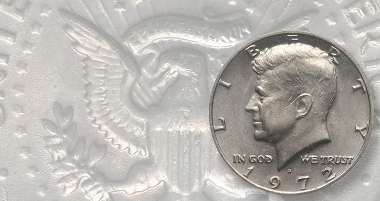 This Kennedy half dollar sold for $2,485 because of what the coin is missing