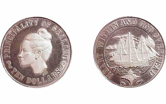 1972-sealand-10-dollar-ship-proof-silver-crown