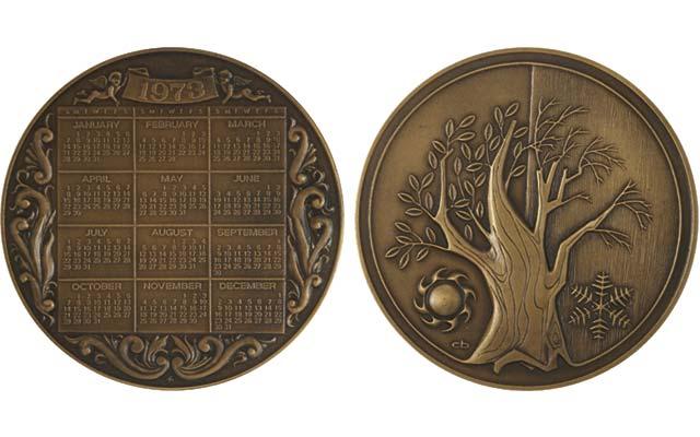 1973-franklin-mint-calendar-medal